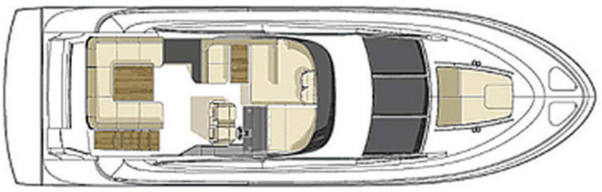 Sea Ray 510 Fly - deckplans, upperdeck