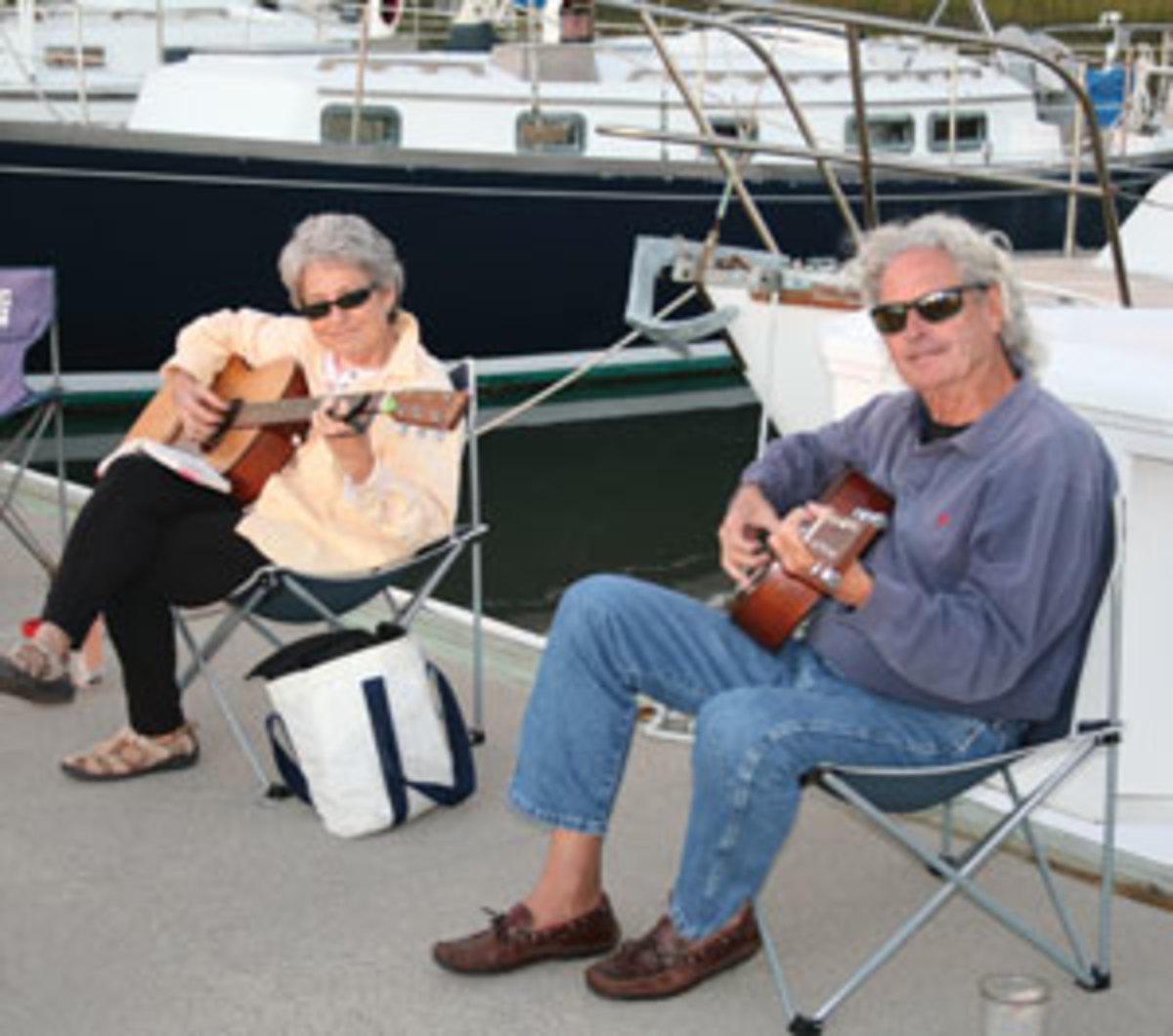 Guitar players on Jekyll Island