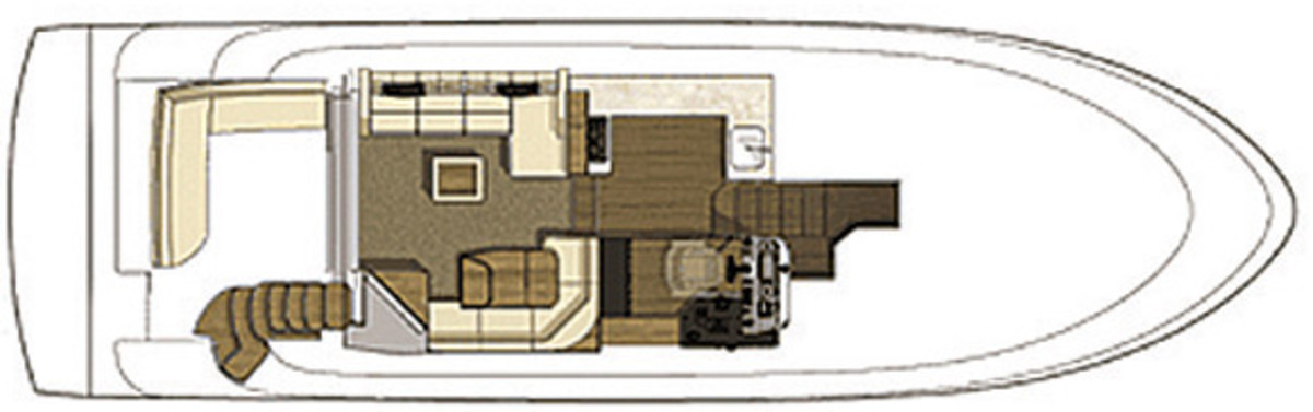 Sea Ray 510 Fly - deckplans, maindeck