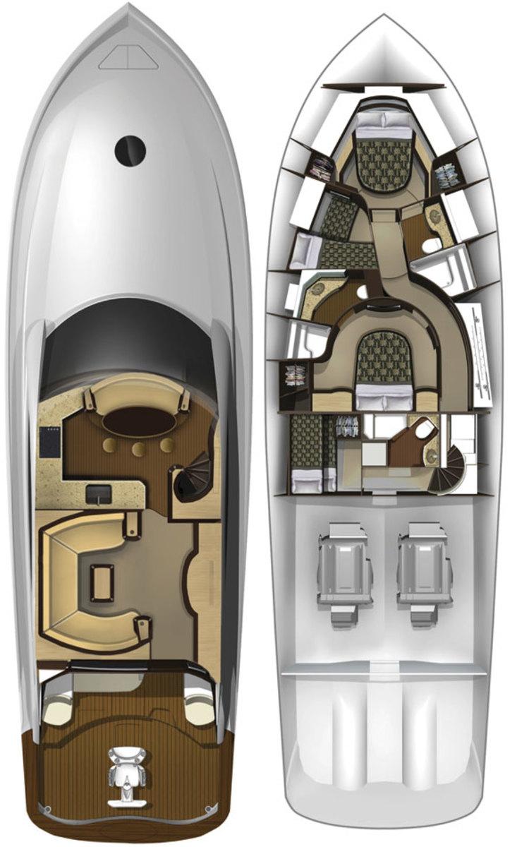 Makaira 64 deckplans