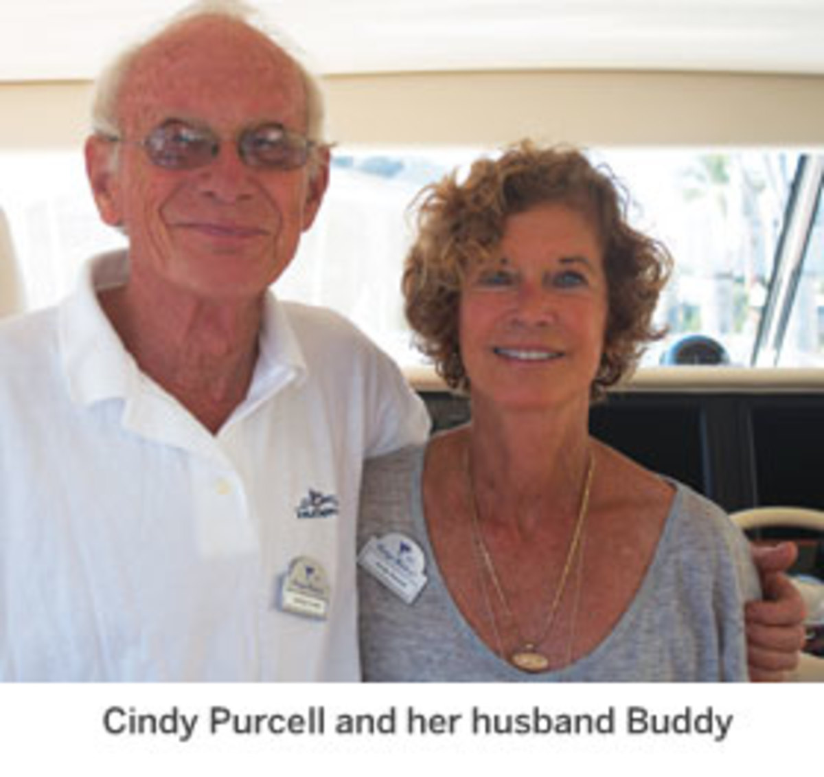 Huckins owner Cindy Purcell and her husband Buddy