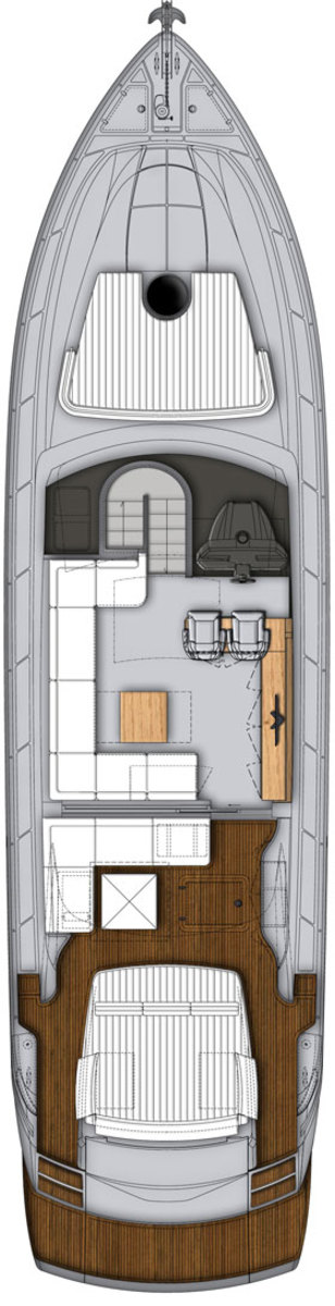 Pershing 62 deck plans - main deck