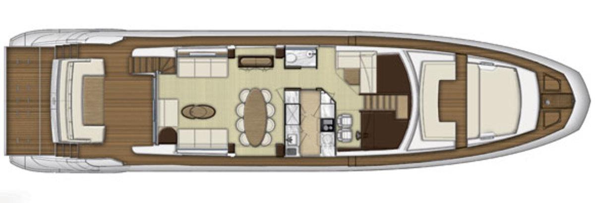 Azimut 80 main deck layout