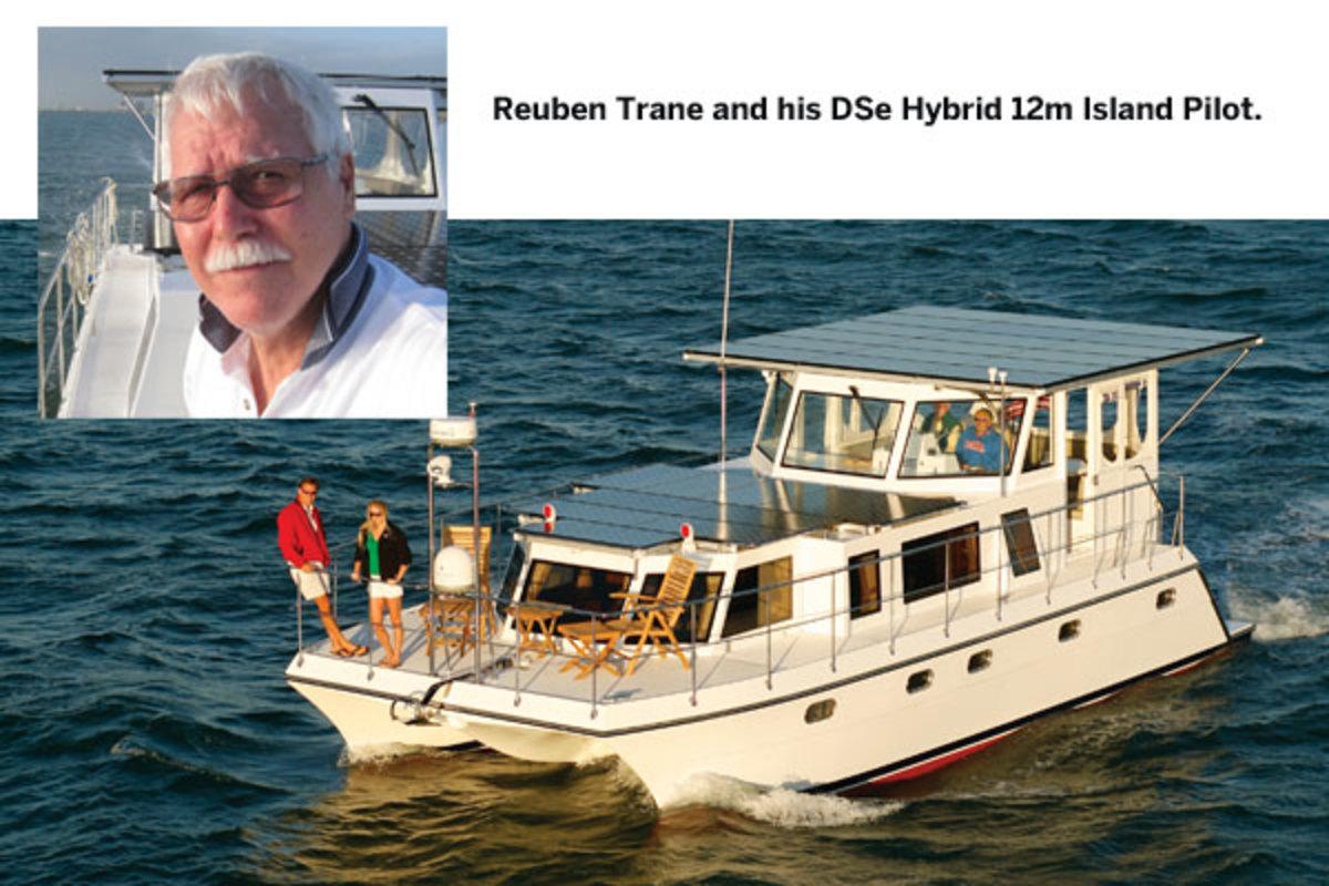 Reuben Trane and his DSe Hybrid 12m Island Pilot.