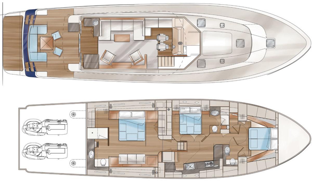 Sabre 66 deck plans