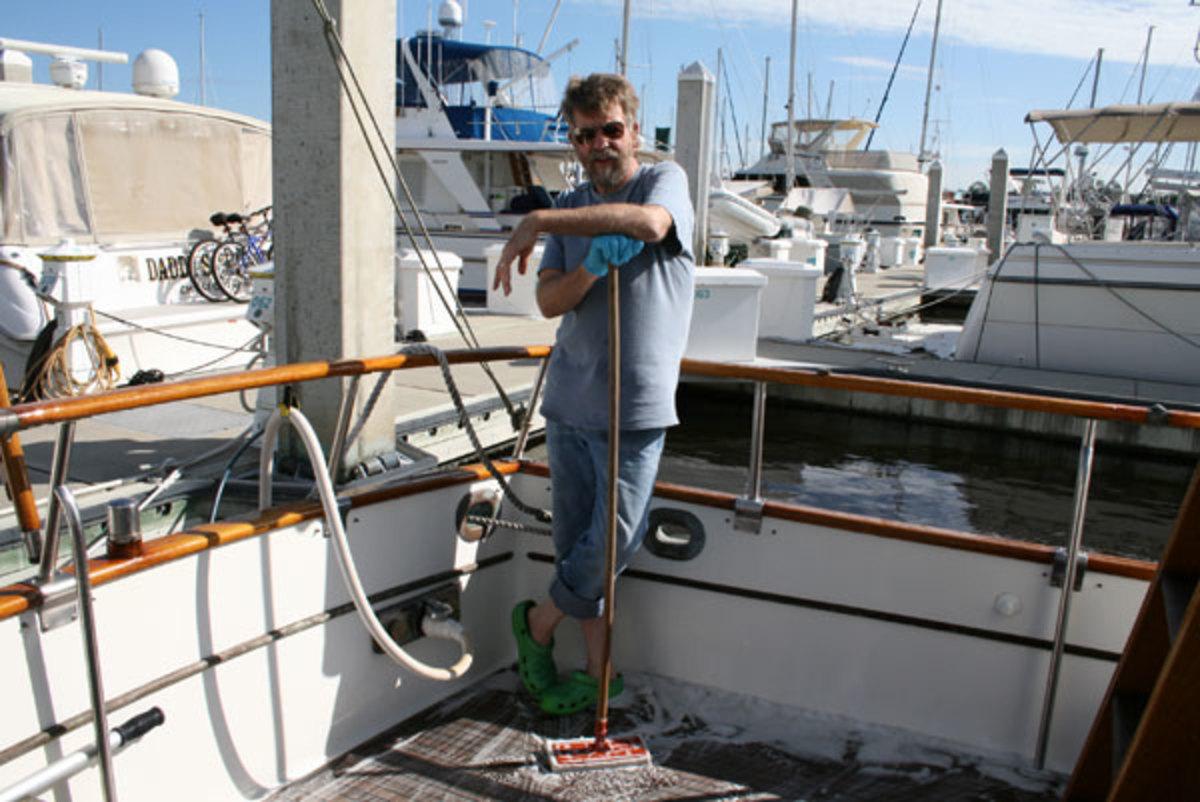 Capt. Bill Pike aboard Betty Jane