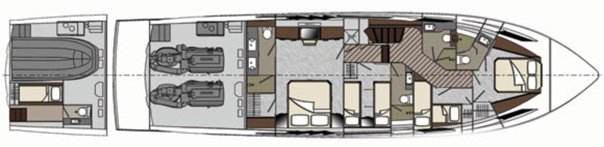 Lazzara LMY 64 layout - lower deck