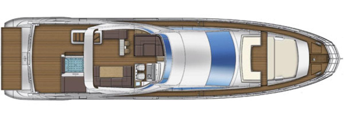 Azimut 80 flybridge deck plan