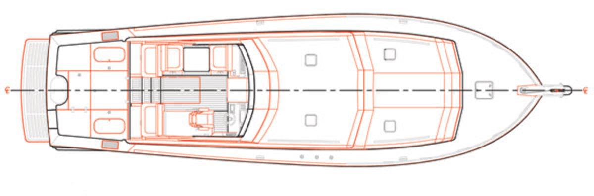 Huckins 45 deck plans