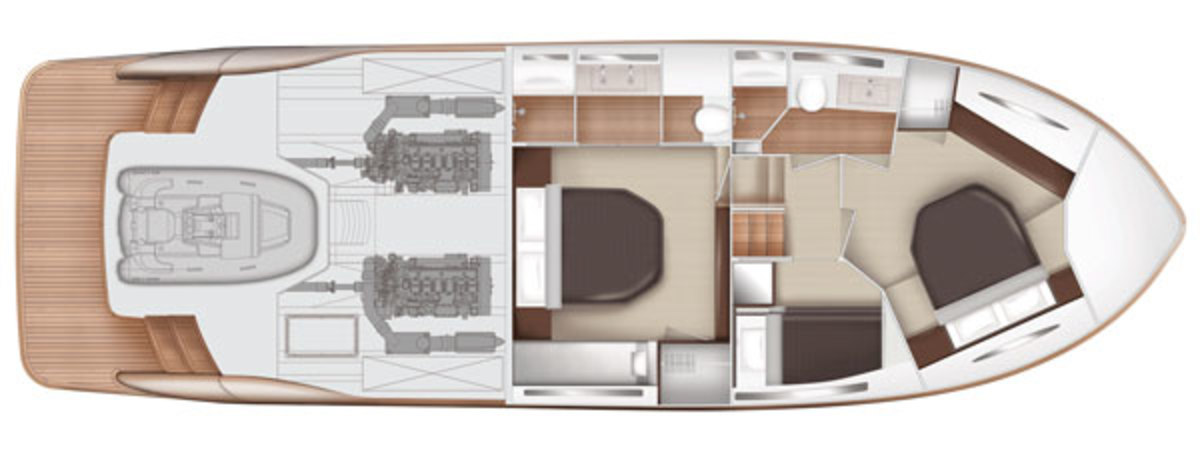 Elandra 5 Sports Yacht lower deck