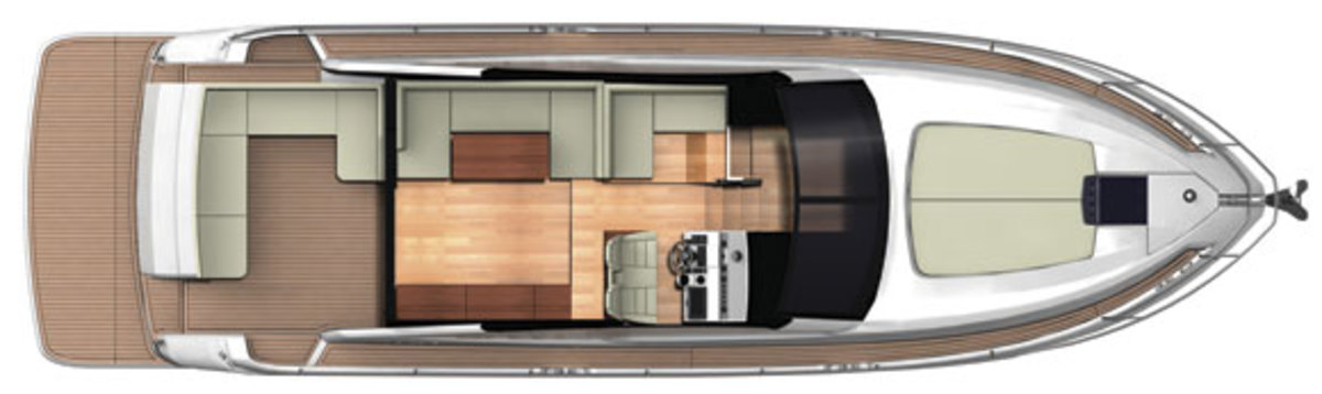 Fairline Targa 48 Open upper deck
