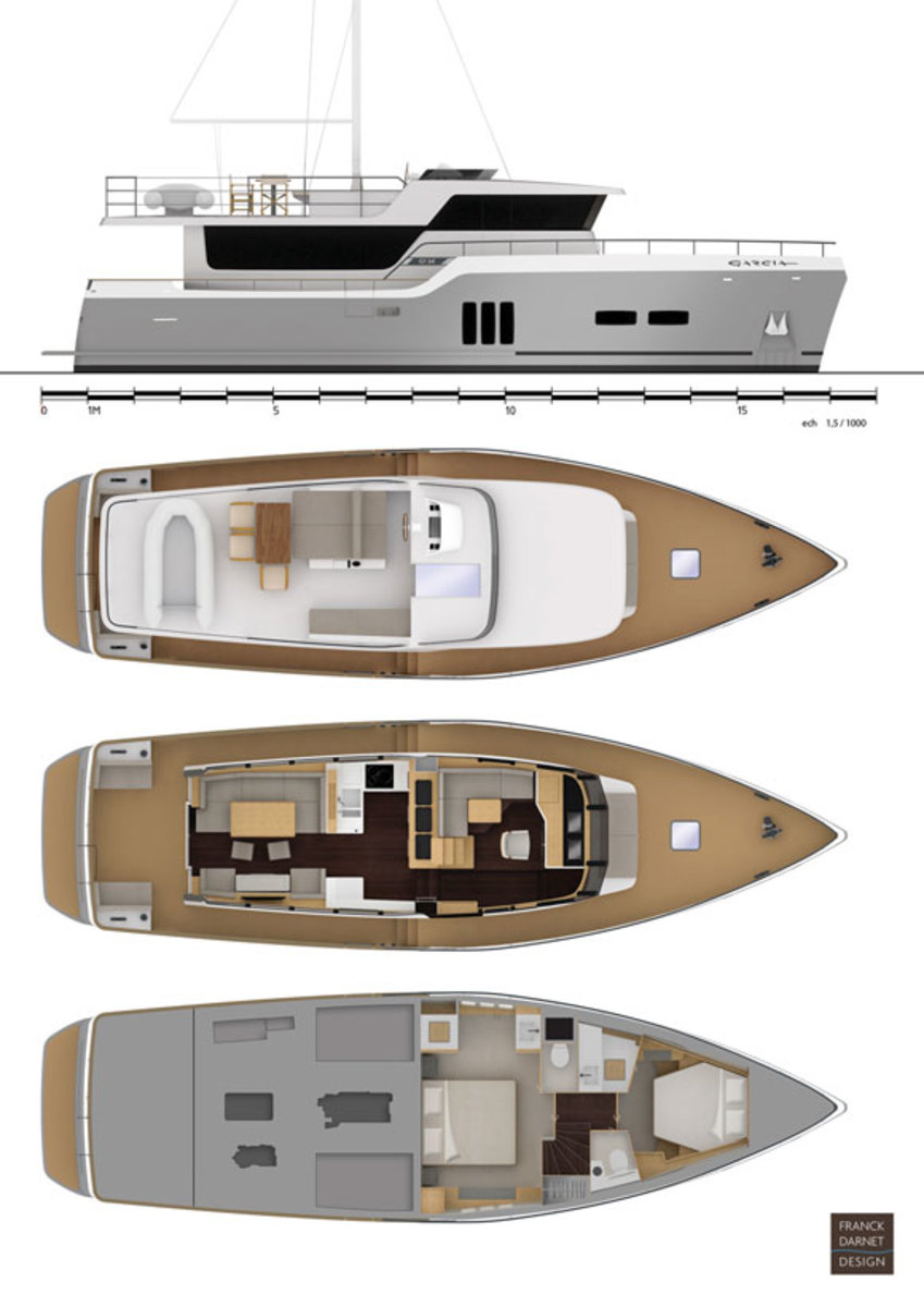 Garcia Trawler 54 deck plans