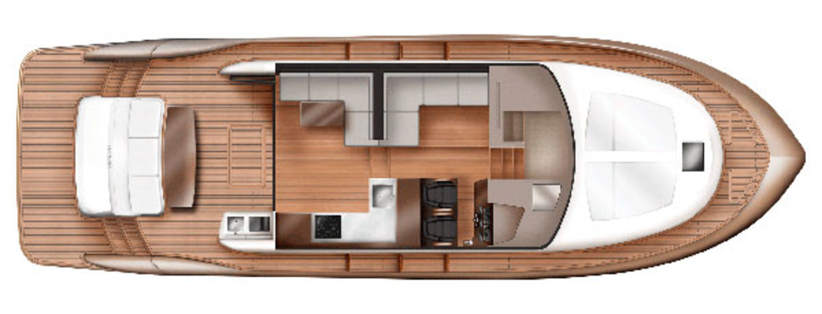 Elandra 5 Sports Yacht main deck