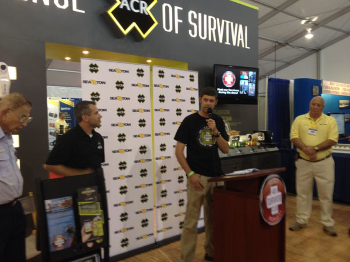 Kevin Keith tells his story of survival at the 2013 Ft. Lauderdale International Boat Show.