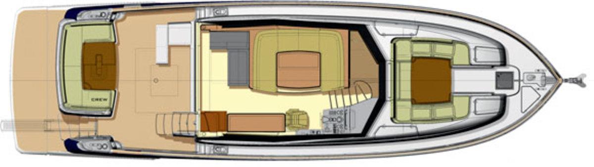 Azimut Magellano 53 deckplans - Maindeck