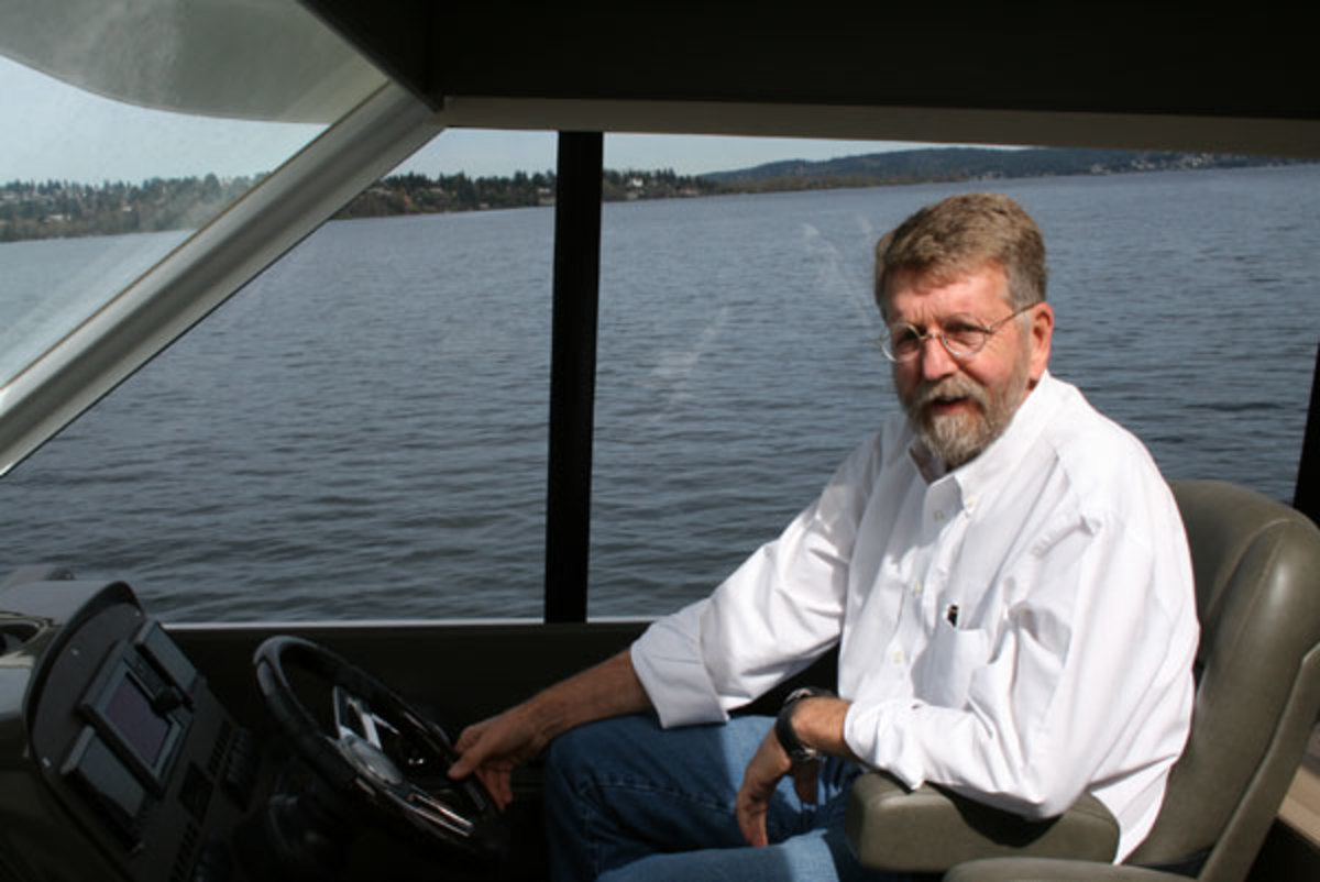 Capt. Bill Pike on the Maritimo 58