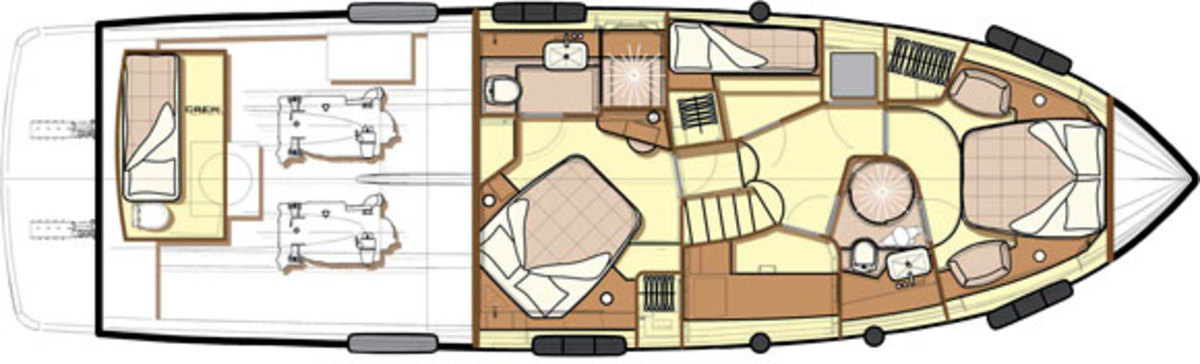 Azimut Magellano 53 deckplans -Lowerdeck