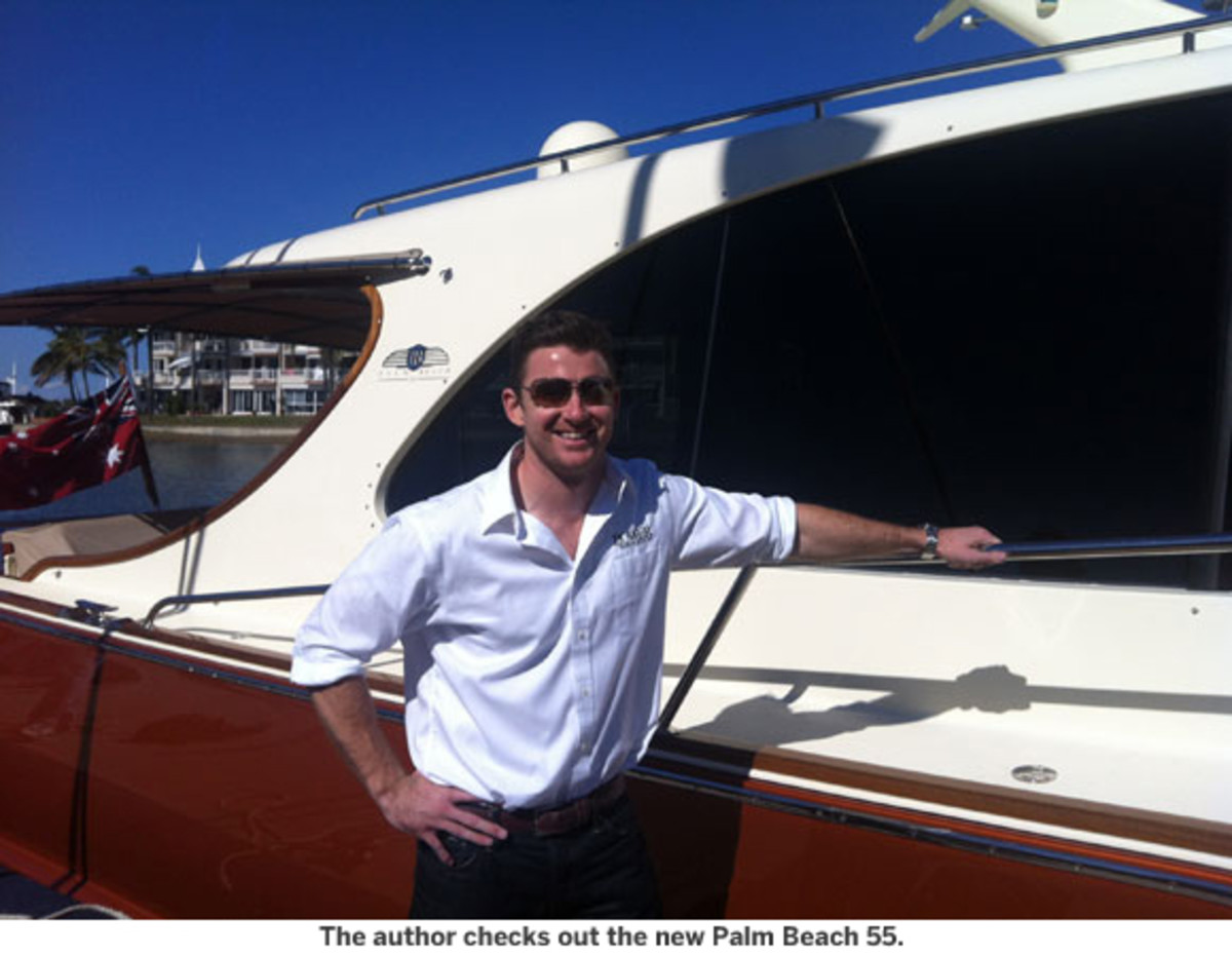 The author checks out the new Palm Beach 55 Motoryacht.