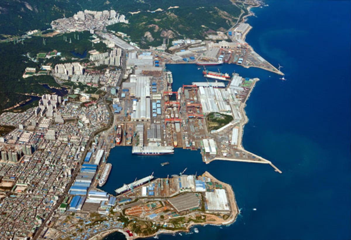 Hyundai's Shipyard at Ulsan, South Korea