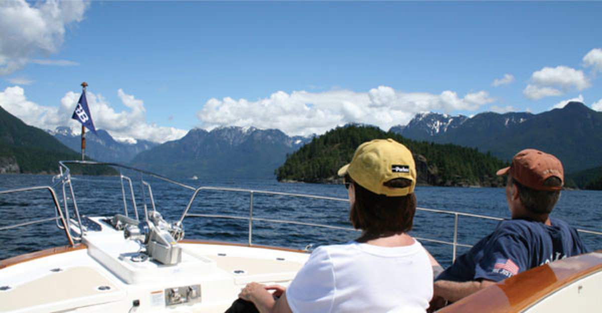 A view of Desolation Sound after rounding Sarah Point.