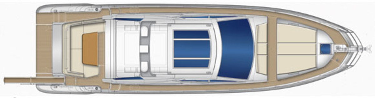 Azimut 55S Upper-deck layout diagram