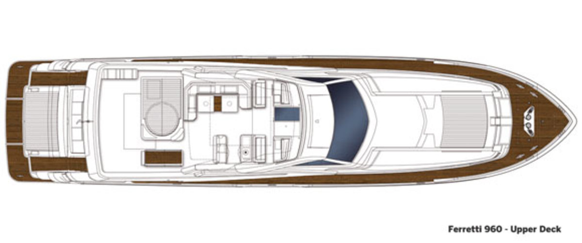 Ferretti 960 upper deck layout