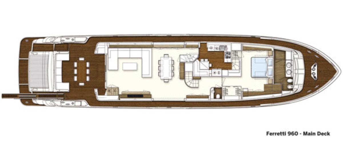 Ferretti 960 main deck layout