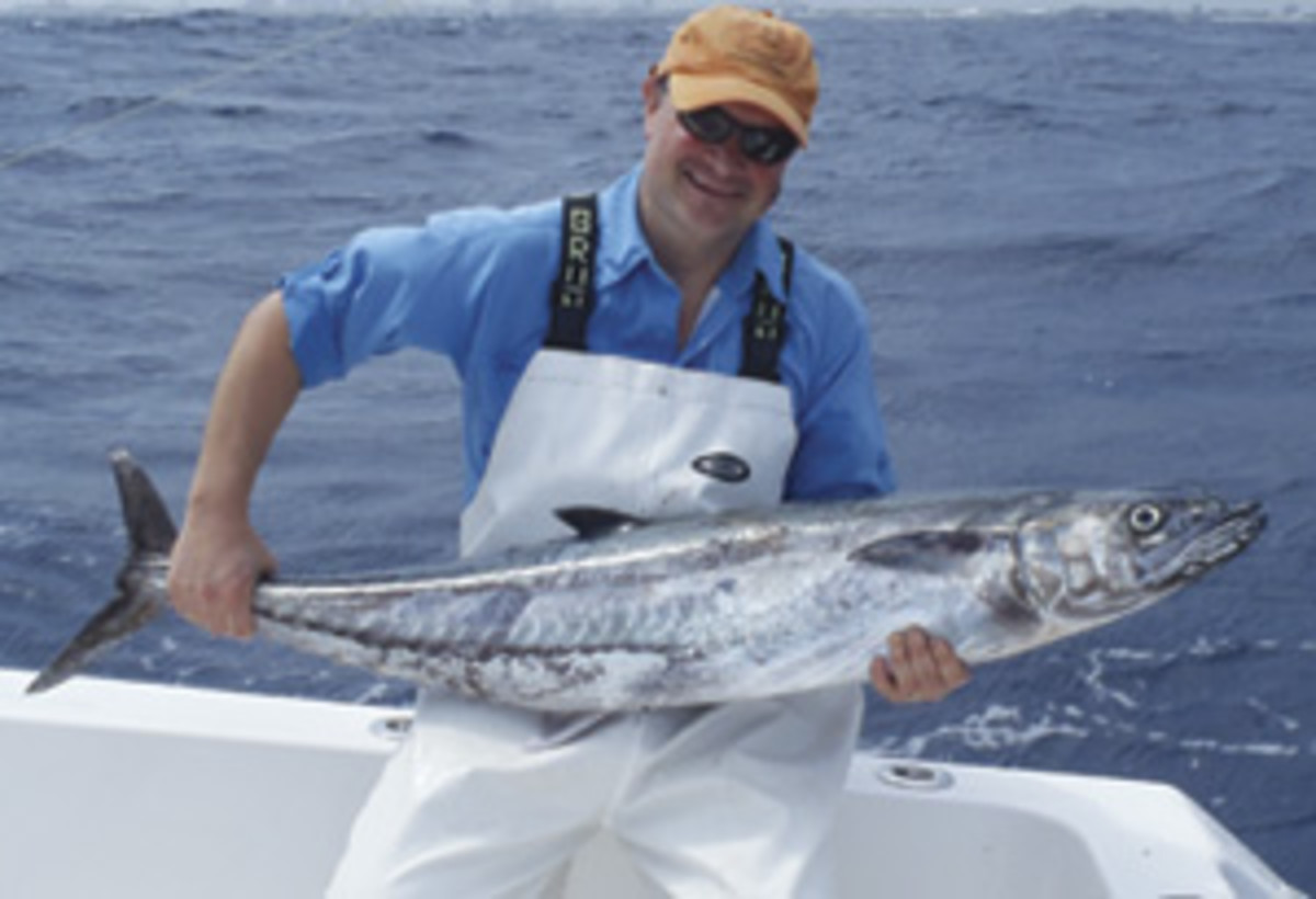 The author with a kingfish catch.