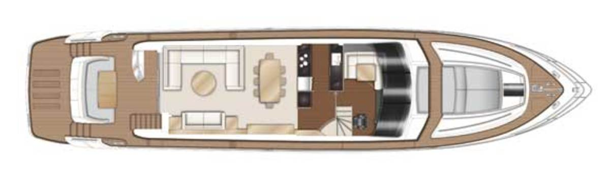 Princess 82 deck plans -Main Deck