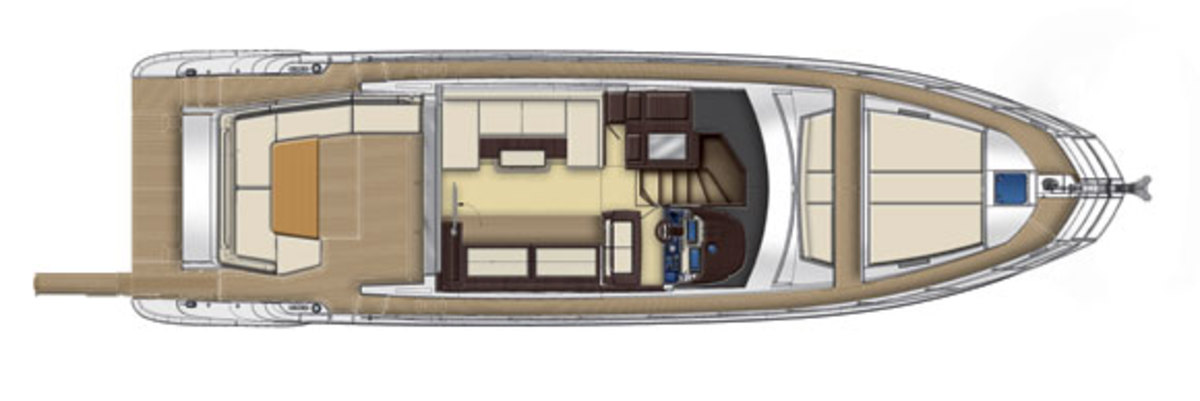 Azimut 55S Maindeck layout diagram