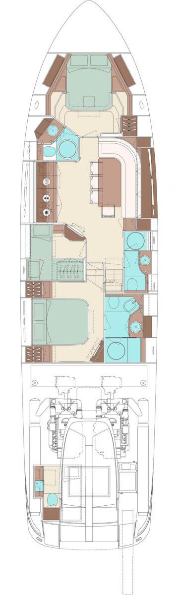 Riva 63 Virtus - internal layout digram