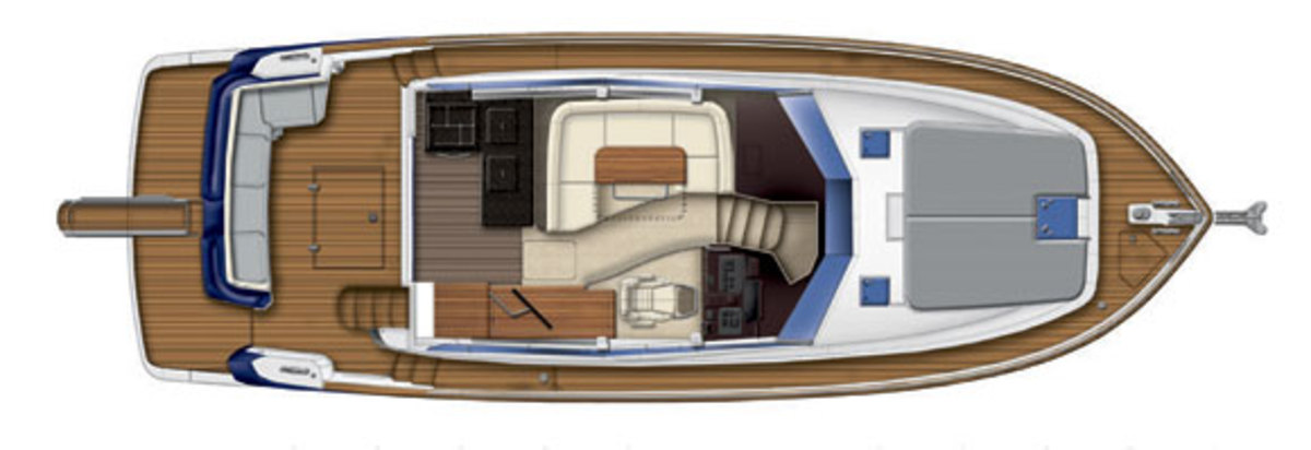 Azimut Magellano 43 - maindeck layout diagram