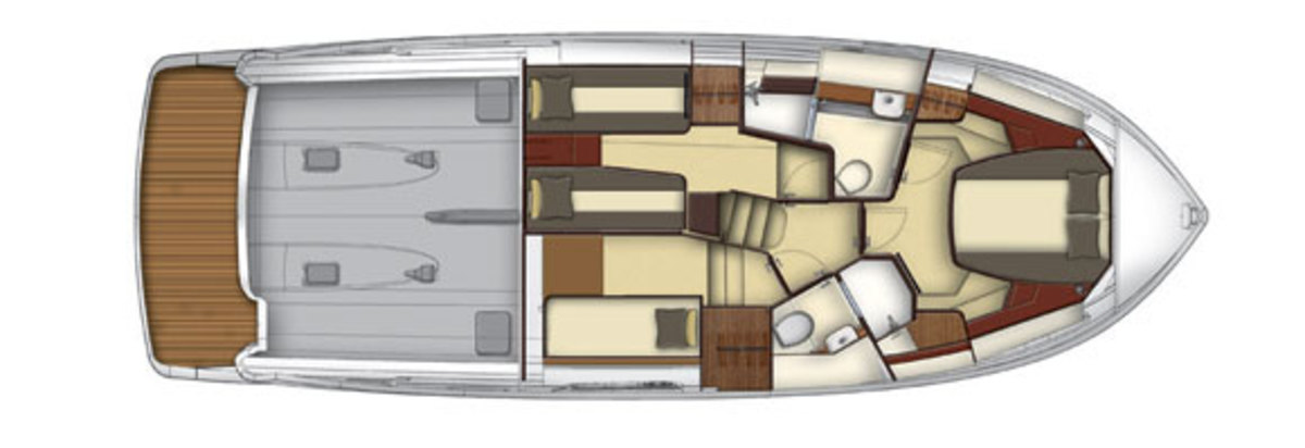 Azimut Magellano 43 - lowerdeck layout diagram