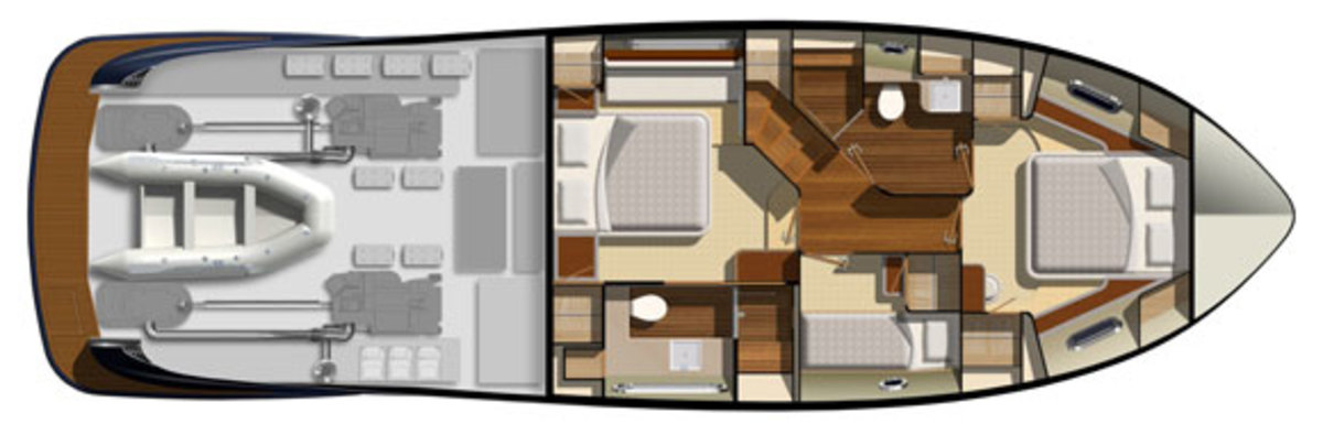 Belize 54 layout diagram - lower deck