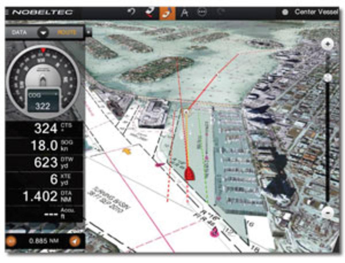 screenshot of the Nobeltec TimeZero iPad App