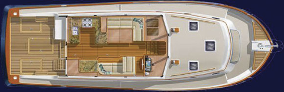 Salish Sea 48 - main deck layout diagram