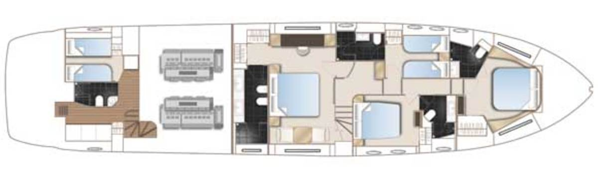Princess 82 deck plans -Lower Deck