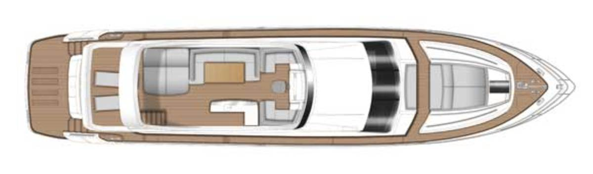 Princess 82 deck plans - flybridge