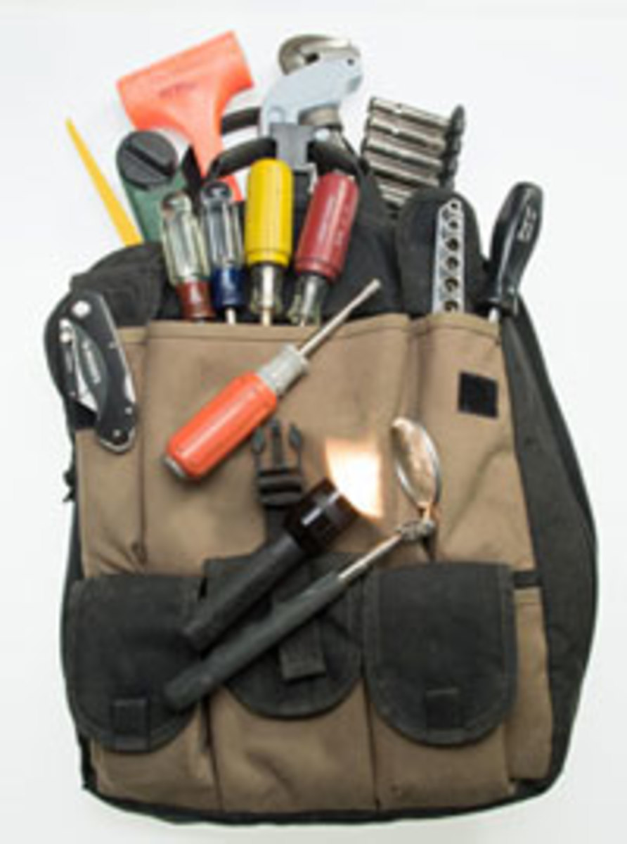 A well-stocked tool bag