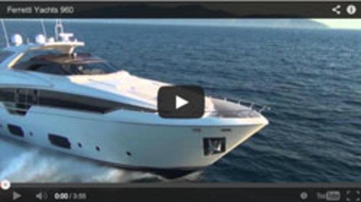 Ferretti 960 video