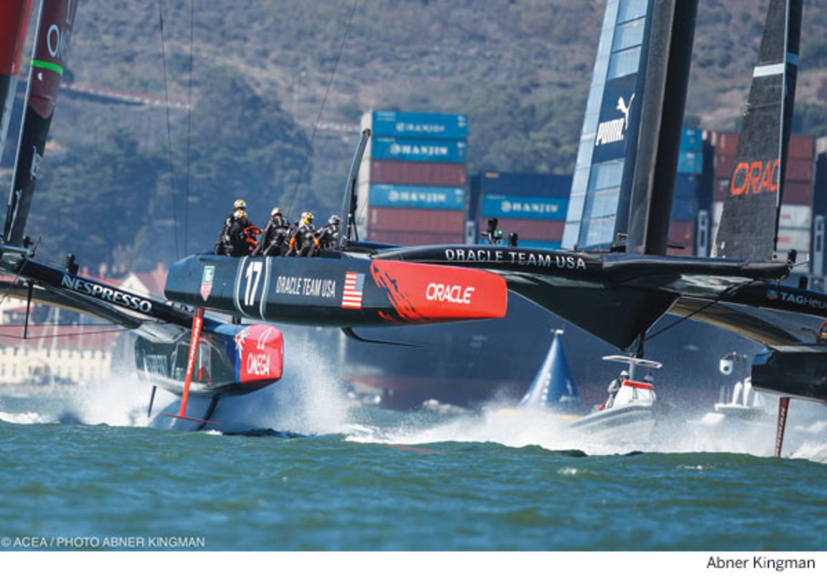 America's Cup - Team Oracle. Photo by Abner Kingman