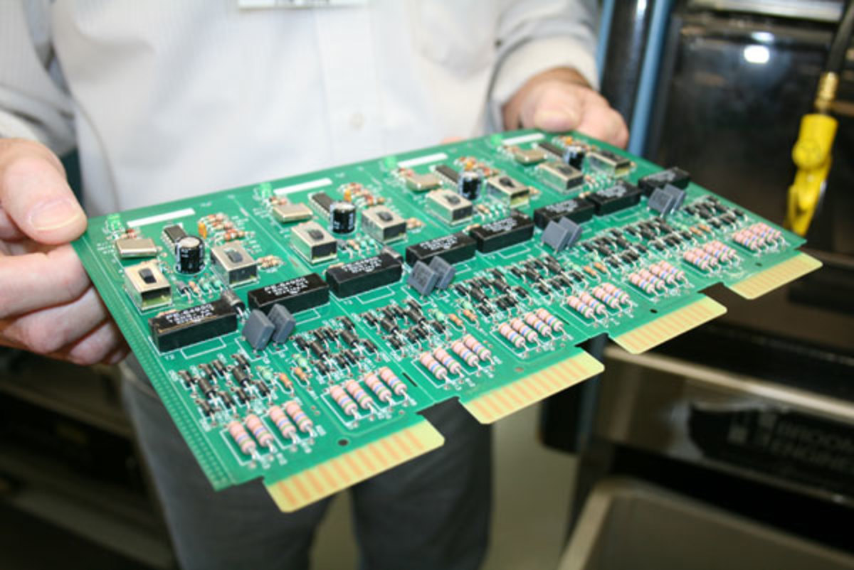 circuit board photo by Capt. Bill Pike