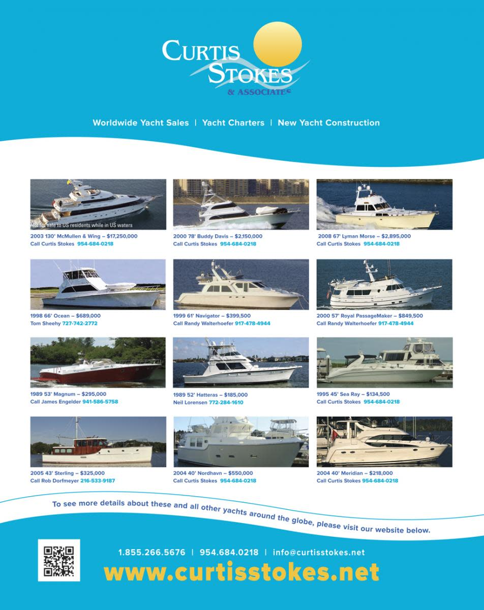 Curtis Stokes & Associates boats for sale