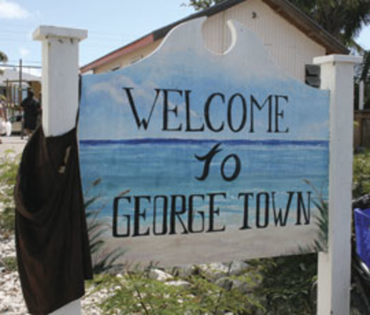 Welcome to George Town sign