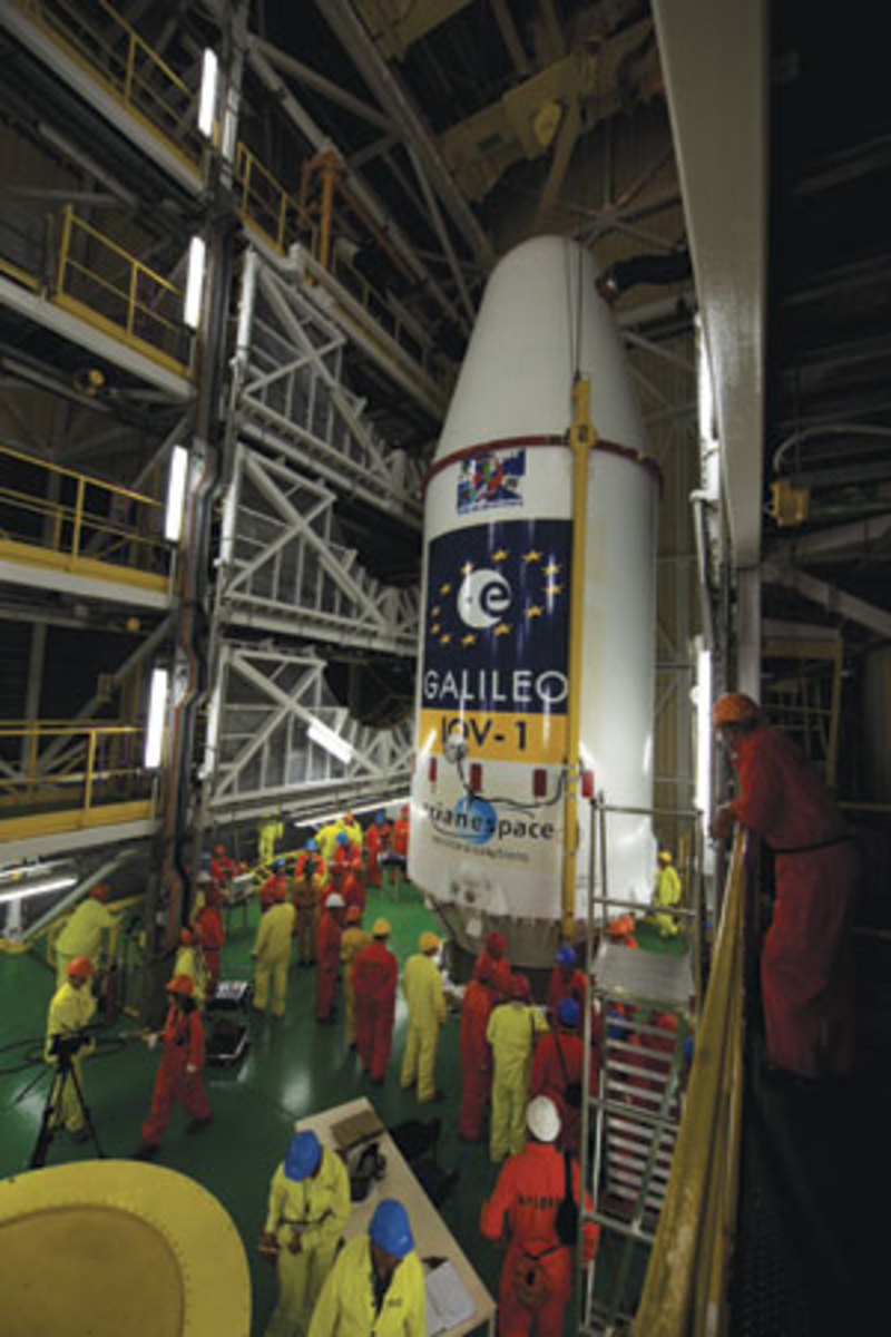 Galileo being prepared for launch