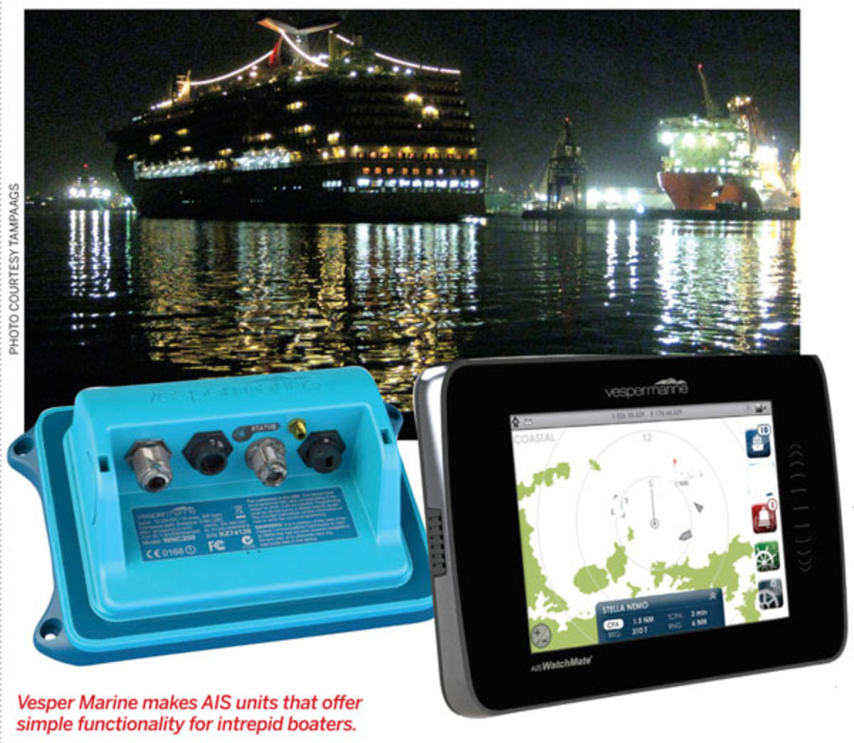 Vesper Marine makes AIS units that offer simple functionality for intrepid boaters.