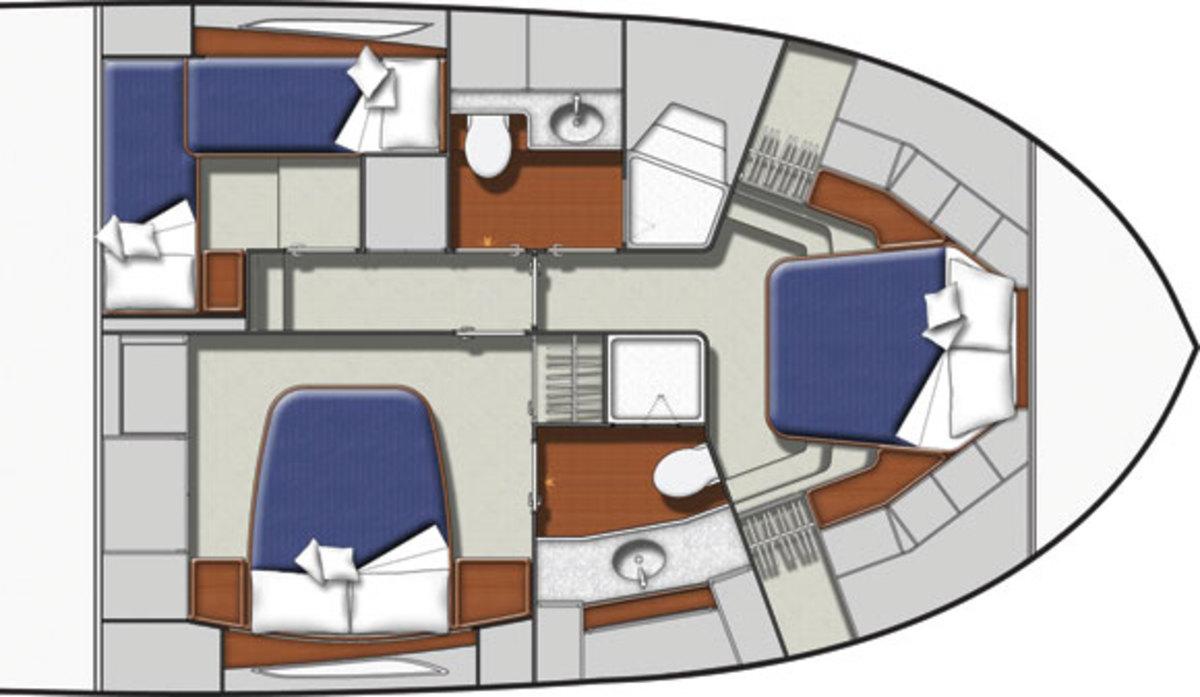 Bertram 54 layout diagram