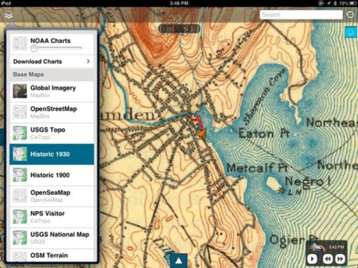 Historical cartography a skipper app first power motoryacht skipper w historical topo basemapg gumiabroncs Gallery