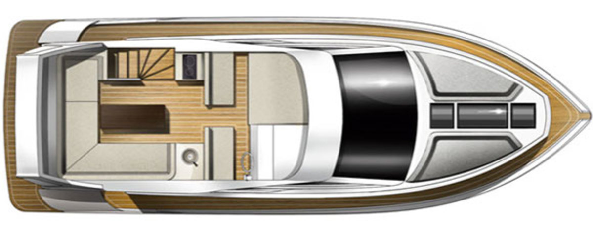 Galeon 420 Fly - layout diagram - flybridge