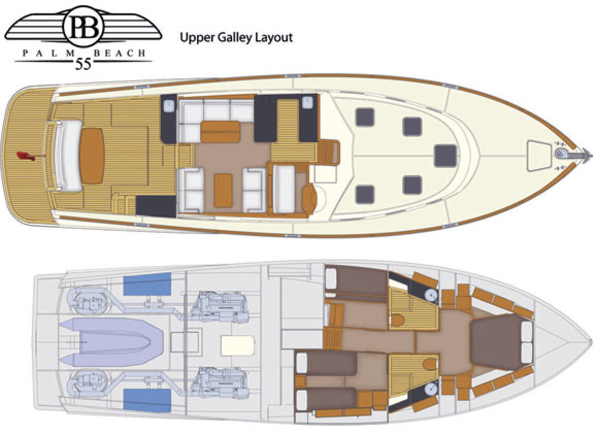 Palm Beach 55 Express deck plans